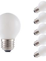 3,5 E26 LED žárovky s vláknem G16.5 4 COB 300 lm Teplá bílá Stmívací AC 110-130 V 6 ks