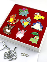 Inspired by Poket Little Monster PIKA PIKA Anime Cosplay Accessories Keychain Silver Alloy
