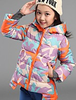 Girl Casual/Daily / School Rainbow Down & Cotton Padded,Polyester / Nylon Winter / Fall Long Sleeve
