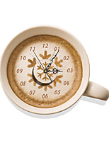 Modern/Contemporary Houses 3D Wall Coffee Indoor Clock Home Furnishing Bedroom