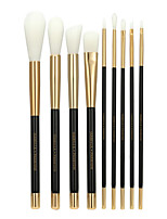 9 Makeup Brushes Set Synthetic Hair Professional / Eco-friendly / Portable Wood Face / Eye Others