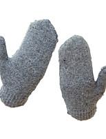 gants de laine ms (gants de cheveux gris foncé)