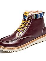 Черный / Синий / Красный-Мужской-На каждый день-Полиуретан-На низком каблуке-Удобная обувь-Ботинки