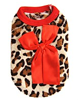 Cat Dog Sweatshirt Vest Dog Clothes Winter Spring/Fall Leopard Fashion Casual/Daily Rose Red