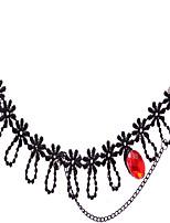 dentelle noire bijoux de cheville de 1pc des femmes