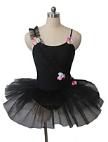 Ballet Dresses Women's / Children's Performance Nylon / Tulle / Lycra Appliques / Flower(s) 1 Piece Sleeveless Dress / Leotard