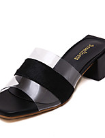 Women's Sandals Summer Slingback PU Casual Black White