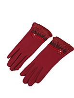 (NOTE - RED) MS FAIL FLOCKING TOUCHSCREEN GLOVES AND WARM RABBIT FUR GLOVES