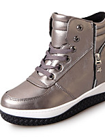 Women's Boots Winter Platform PU Casual Low Heel Lace-up Black / Red / Gray Walking