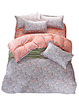 Mingjie Wonderful Grey and Pink Flowers Bedding Sets 4PCS for Twin Full Queen King Size from China Contian 1 Duvet Cover 1 Flatsheet 2 Pillowcases