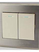 or champagne deux double contrôle panneau interrupteur mural de commutateur à deux double interrupteur
