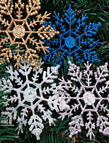 4PCS Christmas Decorations Christmas Snowflake Powder 10*6.5CM  Color Random