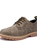 Men's Oxfords Spring Summer Fall Winter Comfort Leather Wedding Office & Career Party & Evening Brown Gray Khaki