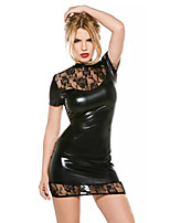 Cosplay Costumes Cosplay Movie Cosplay Black Solid Dress Halloween / Carnival Female Polyester