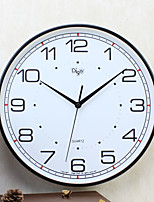 Moderne/Contemporain Famille Horloge murale,Rond Plastique 14 Intérieur Horloge