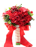 Artificial Red Wedding Bouquets For Brides Bridesmaid Hand Holding Bride Bouquet De Mariage