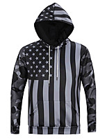 Men's Casual/Daily Sports Active Simple Hoodie Print Micro-elastic Cotton Long Sleeve Spring