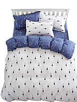 Mingjie Wonderful White and Blue Bedding Sets 4PCS for Twin Full Queen King Size from China Contian 1 Duvet Cover 1 Flatsheet 2 Pillowcases
