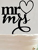 Acrylic Mr & Mrs Cake Topper Non-personalized Acrylic Wedding / Anniversary / Bridal Shower  15*10.6*0.25
