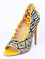 Women's Sandals Spring / Summer / Fall Others  Party & Evening / Dress / Casual Stiletto Heel Zipper Yellow