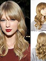 среда женщина блондинка Тэйлора тепло быстры стиль резистентный парики знаменитости волна прическа монолитным парики из синтетических