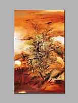 Pintada a mano Abstracto / Fantasía Pinturas de óleo,Modern / Estilo europeo Un Panel Lienzos Pintura al óleo pintada a colgar For