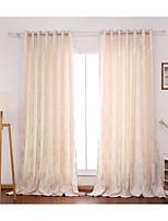 Dois Painéis Tratamento janelaFlor Quarto Poliéster Material Cortinas cortinas Decoração para casa For Janela