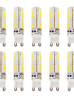 3.5 G9 LED Bi-pin Lights T 64 SMD 2835 3202-340 lm Warm White/ Cool White  Dimmable / Waterproof AC110V/ AC220V 10 pcs