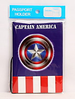 Travel Passport Holder & ID Holder Waterproof / Dust Proof / Portable Travel Storage Captain America PVC