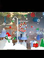стикеры окна рождественские украшения снежинки