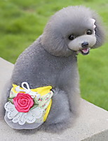 Katzen / Hunde Hosen Gelb / Grün / Rosa / Beige Hundekleidung Sommer / Frühling/Herbst Blume Niedlich / Lässig/Alltäglich