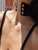 Женский Ожерелья-бархатки Заявление ожерелья Бижутерия Ткань Мода Заявление ювелирные изделия Белый Черный БижутерияДля вечеринок