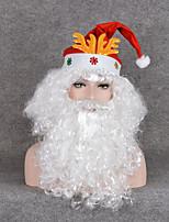 chirstmas Festival dom fãs prop curly perucas cosplay barba branca natal papai noel peruca& bigode& chapéu do natal