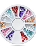 1pcs  Nail Art Tip Rhinestone Decoration Wheel 3mm Glitter Manicure
