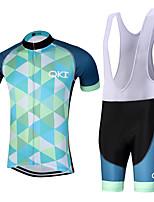 Sportif Maillot et Cuissard à Bretelles de Cyclisme Homme Manches courtes VéloRespirable / Séchage rapide / Design Anatomique / Zip