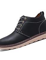 Черный / Коричневый / Телесный-Мужской-На каждый день-Полиуретан-На плоской подошве-Удобная обувь-Ботинки