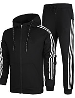Running Tracksuit / Clothing Sets/Suits Men's Long Sleeve Soft / Comfortable Cotton Running Sports Wear Stretchy SlimIndoor / Leisure