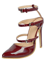 Women's Sandals Spring / Summer / Fall Slingback Leatherette Party & Evening / Dress / Casual Stiletto Heel Buckle Burgundy