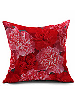 Flower Cotton Linen Throw Pillow Case Home Decorative  Cushion Cover Pillowcase Car Pillow cover(Set of 1)
