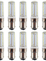 3W BA15D LED Bi-pin Lights T 81 SMD 3014 300-330 lm Warm White / Cool White Waterproof AC/DC 12 V 10 pcs