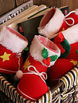 2PCS Christmas Decorations Candy Boots 9*6*10CM