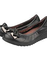 Homme-Bureau & Travail Habillé Décontracté-Noir-Talon Plat-Ballerine-Chaussures à Talons-Cuir Nappa