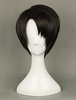 Anime Levi Ackerman from Attack on Titan  Brown  Cosplay Wig 35cm Short Straight Costume Party  Wigs