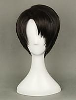 аниме Levi Акерман от нападения на Титане коричневый парик косплей 35см короткий прямой костюм партии париков