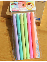6 Color Lovely Creative Stationery Pastels