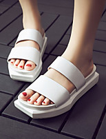 Women's Sandals Summer Slingback Nappa Leather Casual Black / White