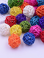10 Pcs 5cm Straw Balls Rustic Rattan Decor Christmas Ornaments DIY Wedding Party Supplies
