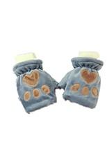 (Anmerkung - grau) heiße Art Fußabdrücke Plüschbär Dame warme Handschuhe