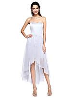 2017 lanting demoiselle bride® habiller une ligne sweetheart robe convertible asymétrique en satin / tulle