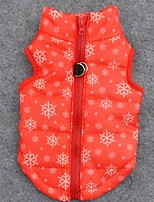 Dog Coat / Vest Orange Dog Clothes Winter Snowflake Keep Warm / Christmas